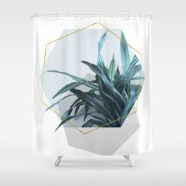 Geometric Jungle Shower Curtain