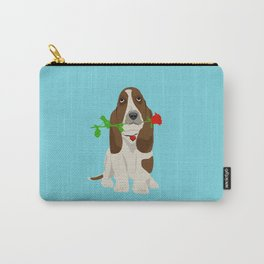 Basset Hound Dog in Love Carry-All Pouch