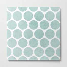 robins egg blue polka dots Metal Print