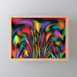 Rainbow Fountain Framed Mini Art Print