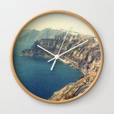 The insane roads of Santorini Wall Clock