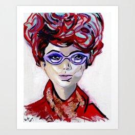 Judy by Varda Levy Art Print