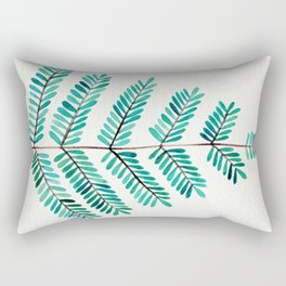 Turquoise Leaflets Rectangular Pillow