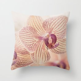 Orchid III Throw Pillow