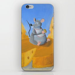 Cheese Rat iPhone Skin
