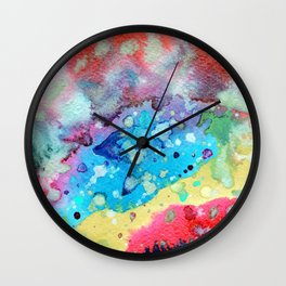Figurative, abstract landscape Wall Clock