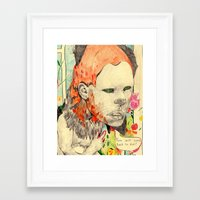 beast Framed Art Prints featuring beast by withapencilinhand