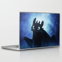 toothless Laptop & iPad Skins featuring Toothless by Liancary