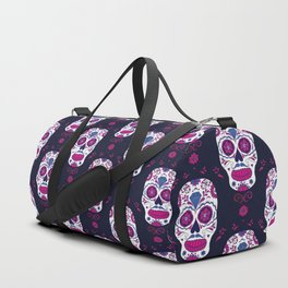 Sugar skull pattern. Mexican Day of the dead graphic. Duffle Bag