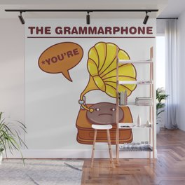 The Grammarphone - Funny Gramophone Wordplay Wall Mural
