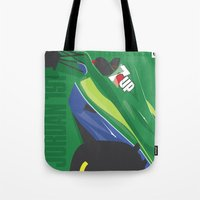 f1 Tote Bags featuring MINIMAL F1 COLLECTION - JORDAN 191 by Daniele Sanfilippo