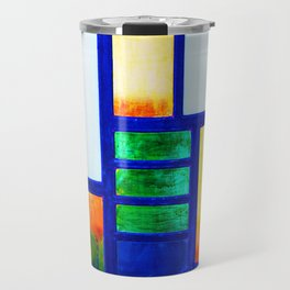 Art Deco Colorful Stained Glass Travel Mug