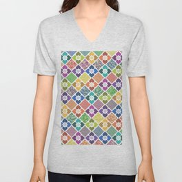 Colorful Floral Pattern III Unisex V-Neck