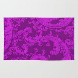 Retro Chic Swirl Dazzling Violet Rug