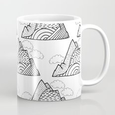 The small clouds and the mountains pattern Mug