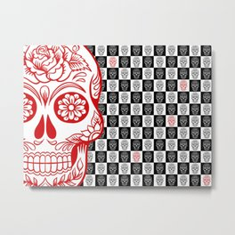 Sugah Skullz Metal Print
