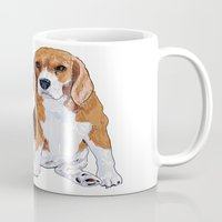 beagle Mugs featuring Beagle by hadkhanong