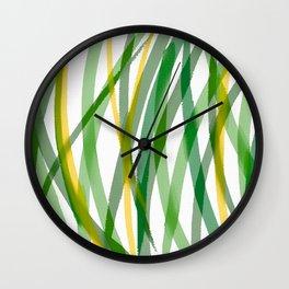 Spring Grass Wall Clock