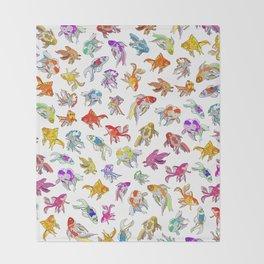 Aquarium Gold Fish Series Throw Blanket
