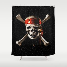 Cool Skull Pirates Shower Curtain