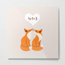 Couple of fox Metal Print