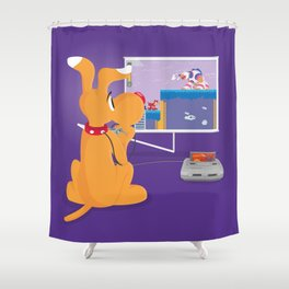 Robot Game Shower Curtain