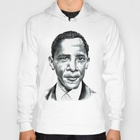 obama Hoodies featuring Obama by Bridget Davidson