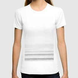 Washed Out Ocean Waves B&W // California Beach Surf Horizon Summer Sunrise Abstract Photograph Vibes T-shirt