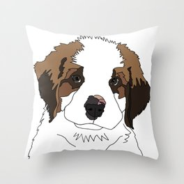 Sully the sweet Saint Bernese Throw Pillow