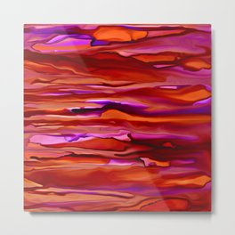 Sunset on the Waves Metal Print