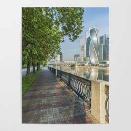Summer landscape Moscow City Poster