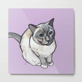 Mulder the Siamese Cat Metal Print