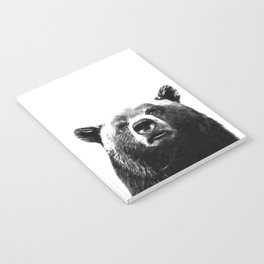 Black and white bear portrait Notebook