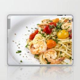 Spaghetti pasta with prawns Laptop & iPad Skin