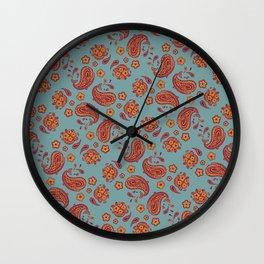 Improbability Paisley Wall Clock