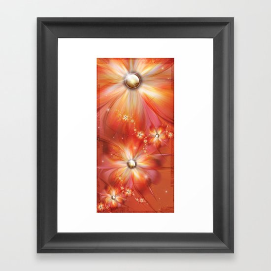 La Roja Heat Framed Art Print