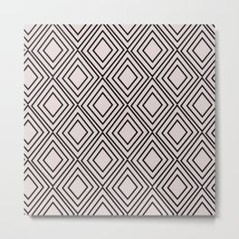 Modern mauve pink geometric elegance diamond shapes Metal Print