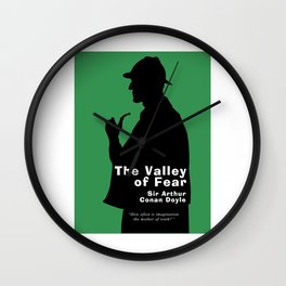 The Valley of Fear - Sherlock Holmes Wall Clock