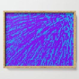 Purple Blue Abstract Serving Tray