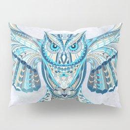 Blue Ethnic Owl Pillow Sham