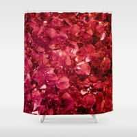 ruby Shower Curtains featuring Ruby by Lotus Effects