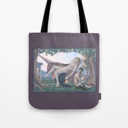 Dionysus and Satyr Tote Bag