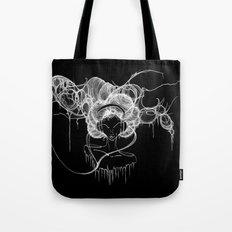 Black and White Headphones Tote Bag