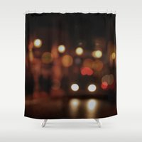 taxi driver Shower Curtains featuring Taxi by Bella Blue Photography