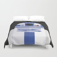 r2d2 Duvet Covers featuring R2D2 by FioMedina