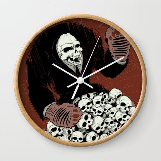 Monkey Skull Suit Wall Clock