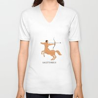 sagittarius V-neck T-shirts featuring Sagittarius by Dano77