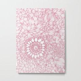 Grand floral pink Metal Print