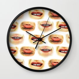 Lips with emotions Wall Clock