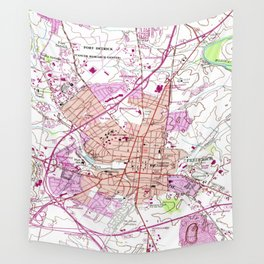 Vintage Map of Frederick Maryland (1953) Wall Tapestry